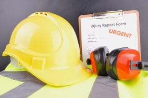 hard hat with injury form
