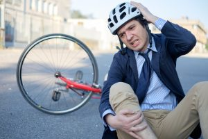 Man in bicycle accident